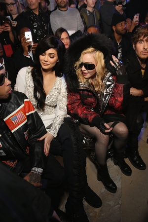 Monday 13th Day 5: Kylie Jenner and Madonna attending the Philipp Plein collection.
