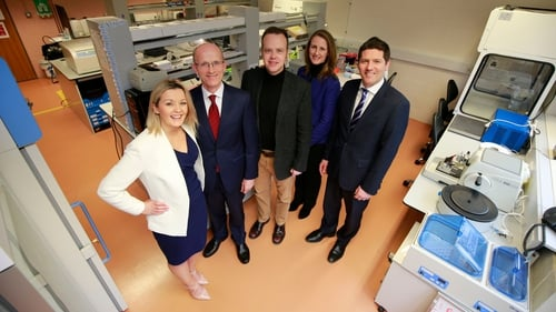 Dawn Walsh from Kernel Capital; Des O'Leary, OncoMark CEO; Professor William Gallagher, co-founder of OncoMark;  Deirdre Glenn from Enterprise Ireland and Kevin Healy from Bank of Ireland