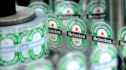 The Dutch brewer makes Heineken, Tiger and Sol lagers and Strongbow cider