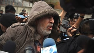 Brayan Jimenez speaks speaks to the press after being arrested in Guatemala City last year