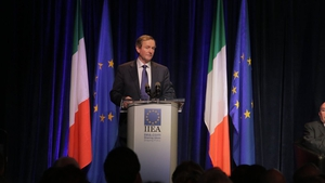 Enda Kenny likened the Northern Ireland border to the Berlin Wall