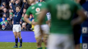 Greig Laidlaw caused problems for Ireland in Murrayfield