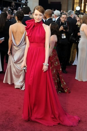 This is a real Oscars red carpet gown! Emma wore this  Giambattista Valli dress at the Oscars ceremony in 2012.