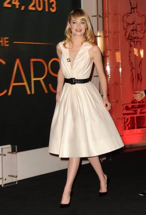 Marilyn Monroe vibes at the Nominations Announcement in 2013 in an Andrew GN white dress! Pou pou pidou!