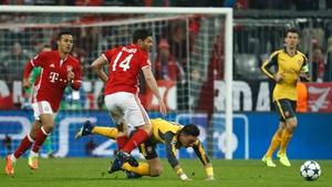 Bayern Munich humbled Arsenal in their first leg clash