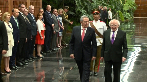 President Michael D Higgins is the first European head of state to visit Cuba since it signed a deal with the EU last year