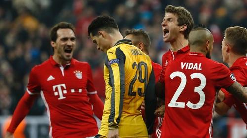 Bayern players had plenty to celebrate at the Allianz Arena