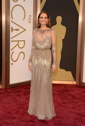 Angelina at the Oscars in 2017 in an Elie Saab goddess dress. #stunning
