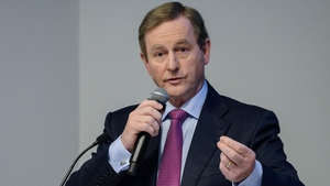 Enda Kenny received a standing ovation at a parliamentary party meeting tonight