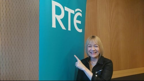 Cindy Gallop talking to RTÉ