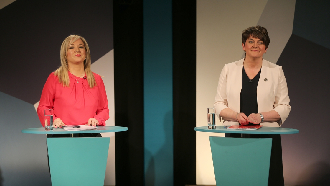 Image - Arlene Foster and Michelle O'Neill, leading a devolved administration