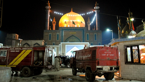Bombing at crowded Sufi shrine also left dozens wounded