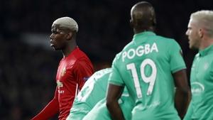 It was Pogba v Pogba at Old Trafford tonight