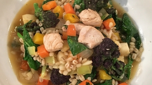 Kev's Chicken, veg & Irish style risotto: Today