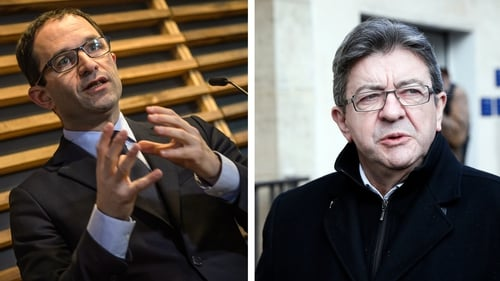 Benoit Hamon and Jean-Luc Melenchon have very different views on Europe