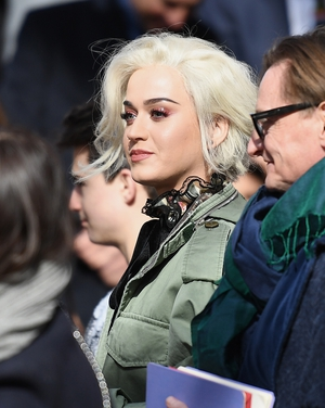 February 16th Day 7: A blond Katy Perry was at the Marc Jacobs fashion show.