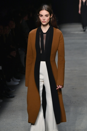 February 14th Day 6: Long, loose, minimal...Narciso Rodriguez' style this season.