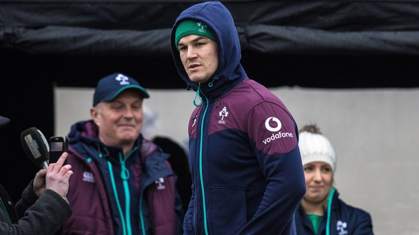 Jonathan Sexton did not train with the squad as Ireland held a session in Monaghan