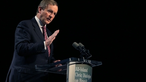 Enda Kenny said there must not be a hard border after Brexit