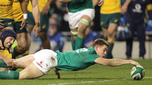 Leinster and Ireland's young centre Garry Ringrose could yet earn a Lions call-up