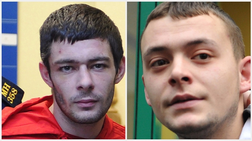 Josh Turner (L) and Wayne Cluskey were both convicted over the death of Christopher Nevin in 2015