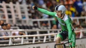 Mark Downey celebrates after winning another gold medal in Colombia