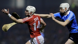 Patrick Horgan in possession against Liam Rushe