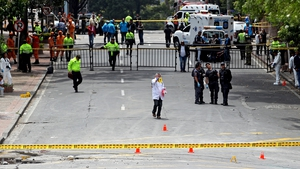 The explosion occurred near the Bogota bullring, which reopened last month amid protests after being shut for three years