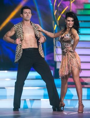 Week 7: GAA star Aidan showed his wild side in an animal print waist coat dancing the samba with Karen.