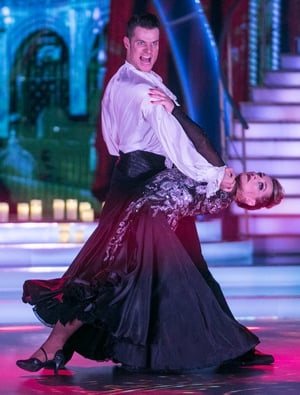 Week 7: We hardly recognised Katherine as she danced the Paso Doble with Vitali. That dramatic dress and vampy make-up transformed her.