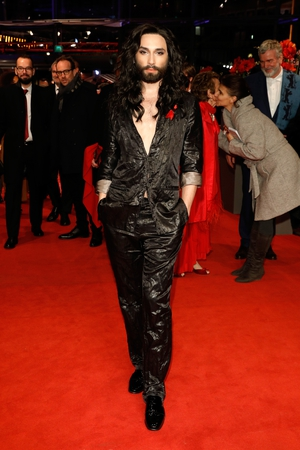 Singer Conchita Wurst at the Closing of the Ceremony. Certainly an eye-catching number.
