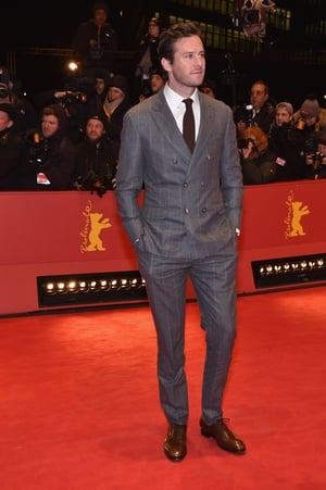 The handsome Armie Hammer in a Brunello Cucinelli suit for the 'Final Portrait' Premiere.