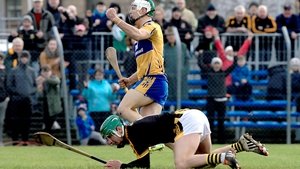 Aaron Shanagher scores Clare's second goal against Kilkenny