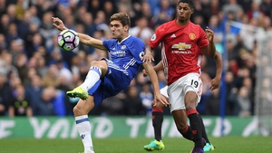 Marcus Rashford was on the losing side against Chelsea in October