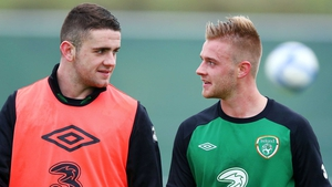 Robbie Brady training with Conor Clifford in 2012