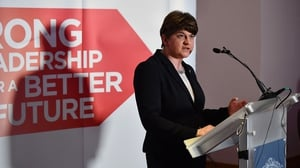 Arlene Foster did not take any questions from the media