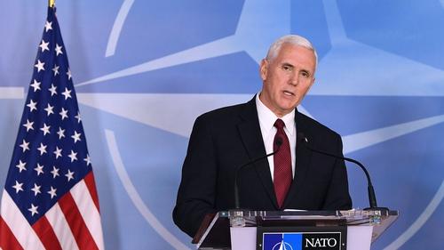US Vice-President Mike Pence was in Brussels to meet EU leaders