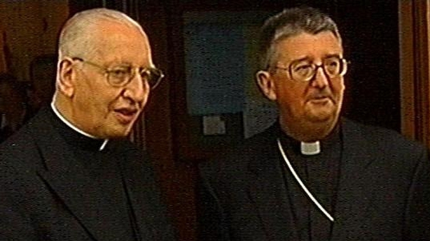 Cardinal Connell (L) with Archbishop Diarmuid Martin