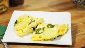 Whip up a delicious spinach and feta frittata from Operation Transformation this morning!