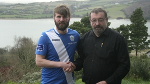 Paddy McCourt with the Finn Harps secretary