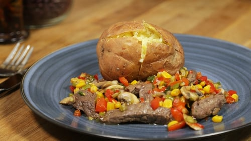 A classic dinner from Operation Transformation: Steak and Baked Potato.