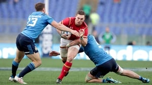 George North in action during Wales' 7-33 defeat of Italy
