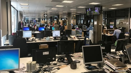The RTÉ newsroom
