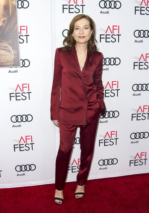 This satin Haider Ackermann ensemble is just gorgeous on Isabelle! She was attending the AFI Fest in 2016.