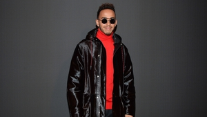 Lewis Hamilton at Paris fashion week in January