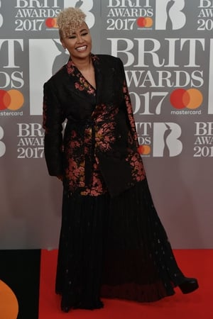 Emeli Sande was the first winner on the night bagging the Brit Award for Best Female Solo Artist
