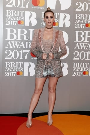 Katy Perry lit up the Brit Awards with this sparkling number and 90s style choker.