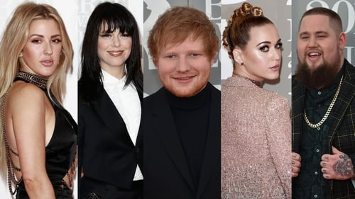 See the stars as they arrived on the Brit Awards red carpet on Wednesday night