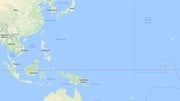 The boats were found in the north Pacific (Pic: Google Maps)