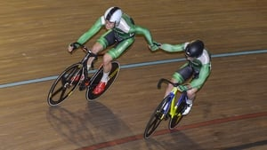 Mark Downey and Felix English took silver in the Madison last weekend
